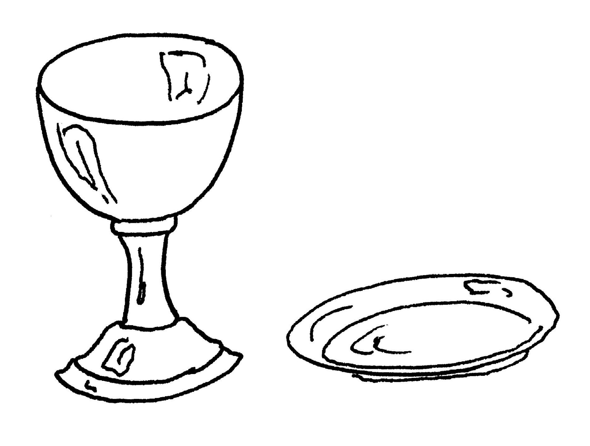 Chalice And Paten Clipart.