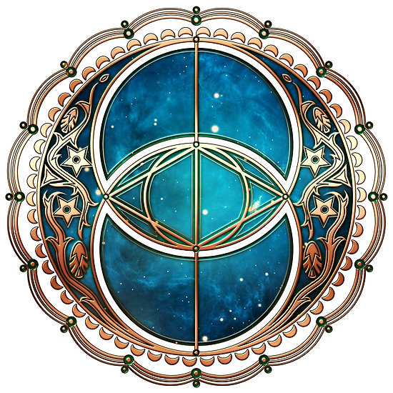 "Vesica Piscis, Chalice Well symbol, Avalon, celtic, magic"" Posters."