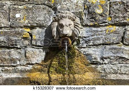 Picture of Lion's Head Drinking Fountain at the Chalice Well.