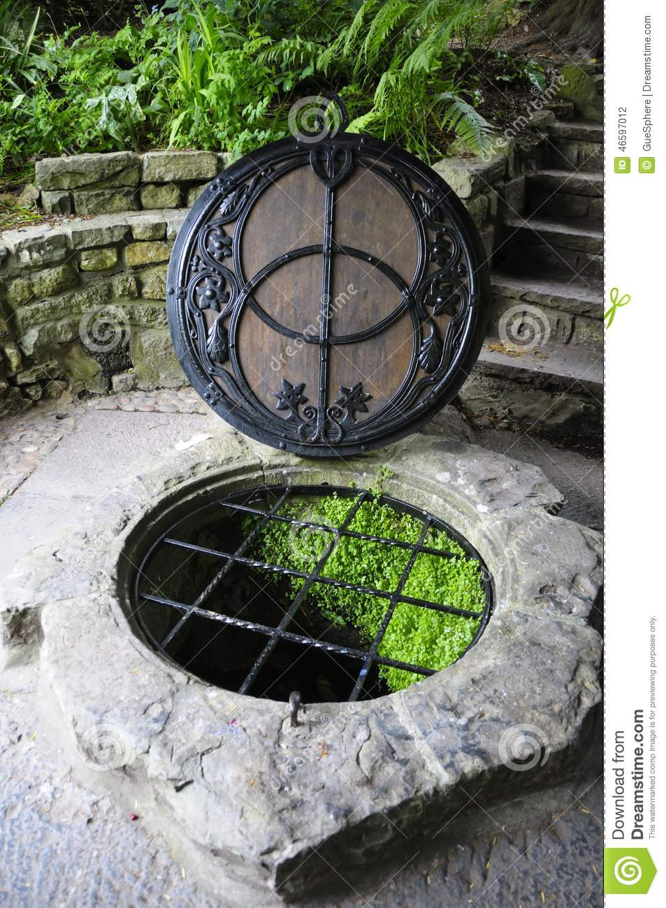 Chalice Well Stock Photo.