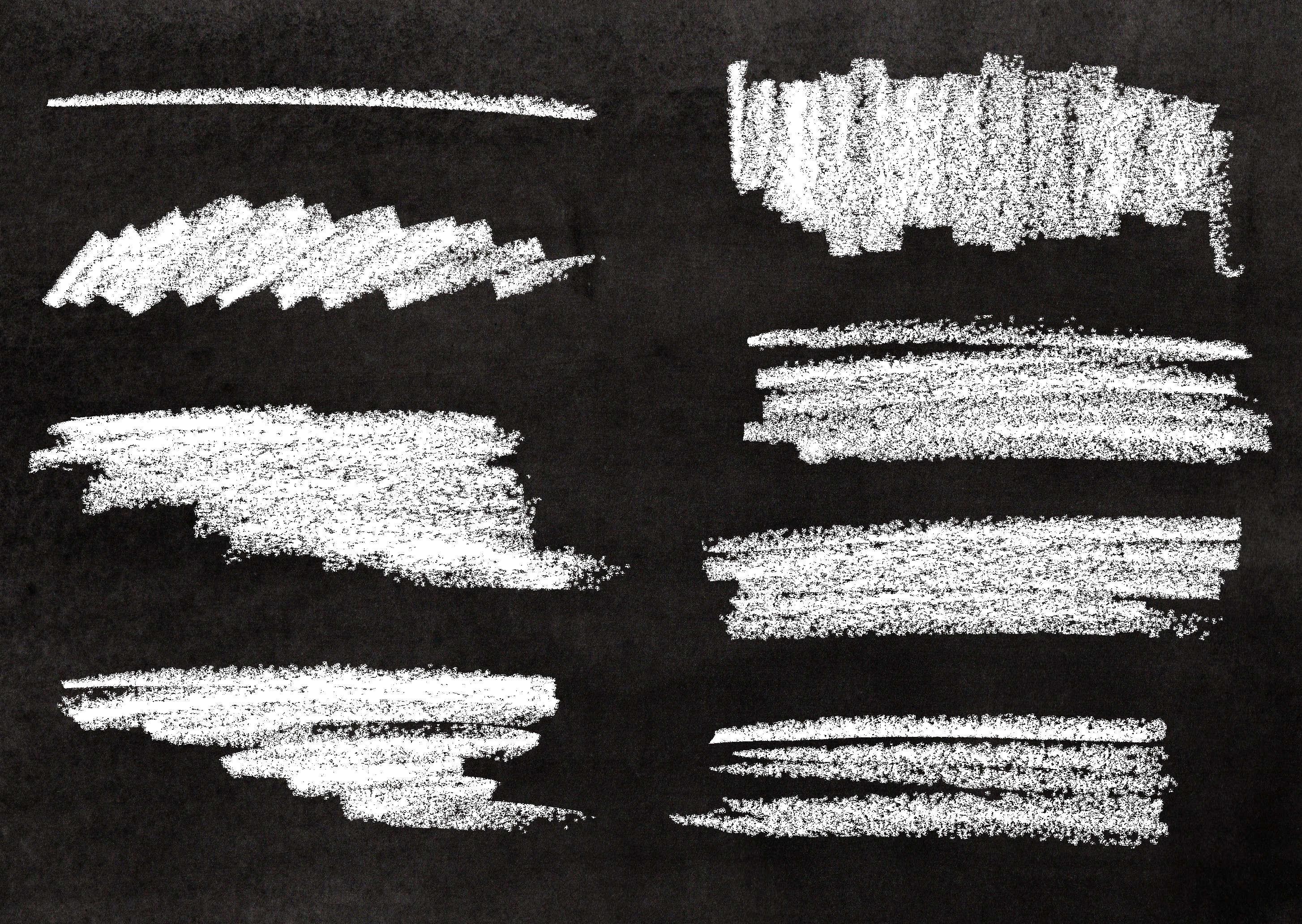 8 Chalk Stroke Banner (PNG Transparent).