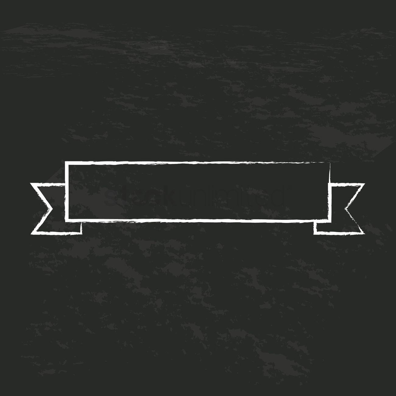 Ribbon Vector Image.