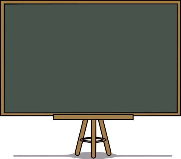 Chalk Board clip art Free vector in Open office drawing svg ( .svg.
