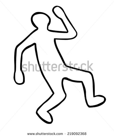 Chalk Body Outline Clipart Clipart Suggest.