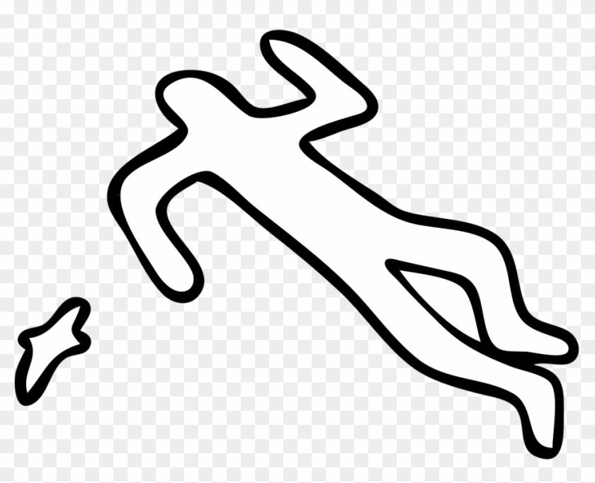 Crime Scene, Silhouette, Body, Ground, Crime, Murder.