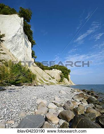 Stock Photography of Chalk cliffs, Jasmund National Park, Rugen.