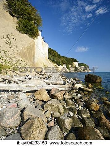 Stock Photography of Chalk cliffs, Jasmund National Park, Rugen.