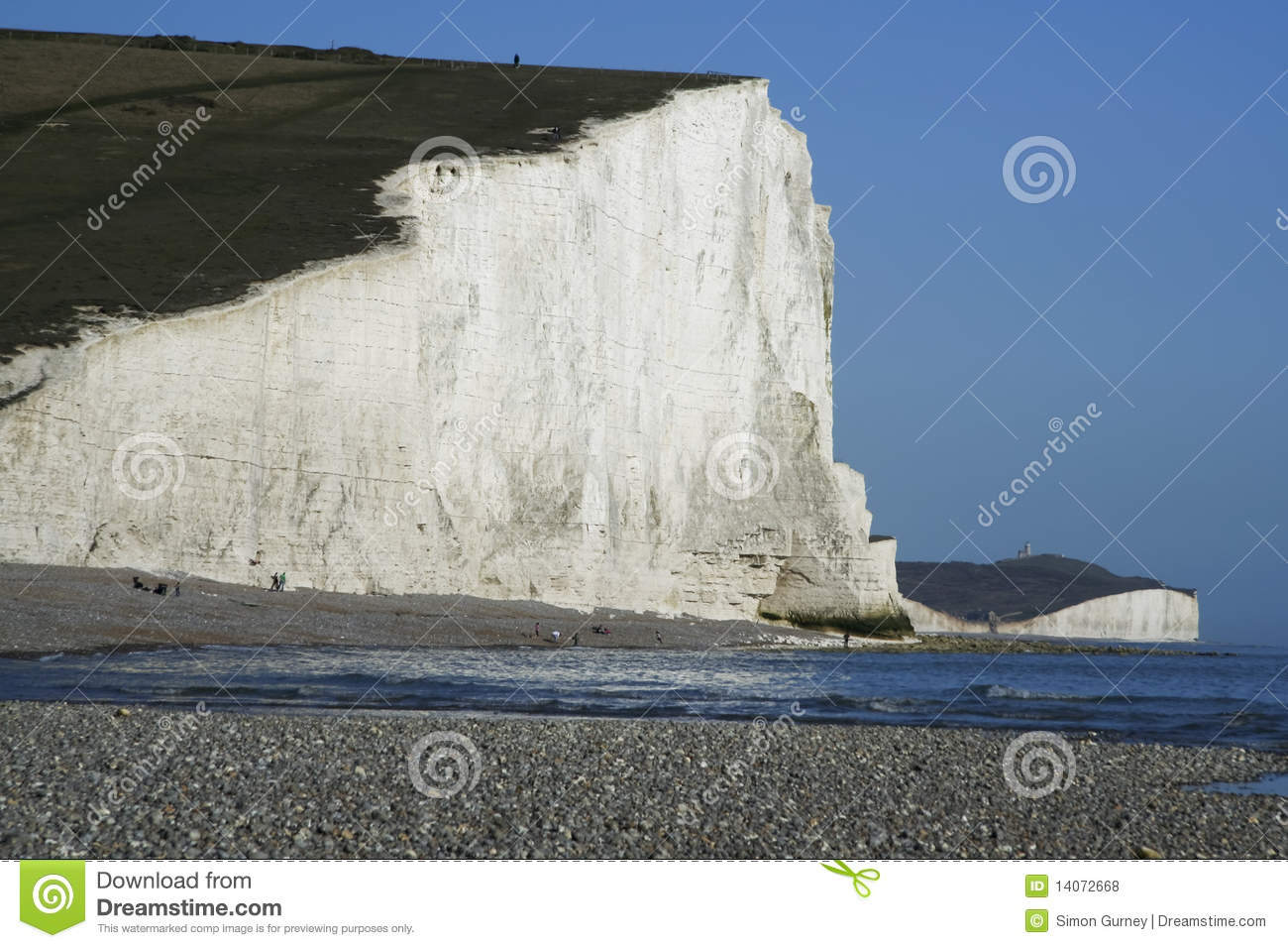 Seven Sisters Chalk Cliffs Sussex England Uk Stock Photo.