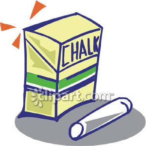Box of chalk clipart.