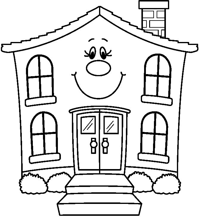 White House Clipart Drawing.