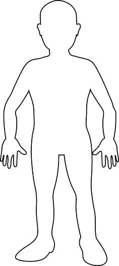 Clipart Body Outline Body Outline For Kids And More Chalk Outline.