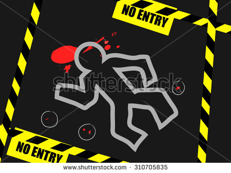 Dead Body Outline Stock Images, Royalty.