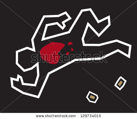 Chalk Outline Stock Images, Royalty.