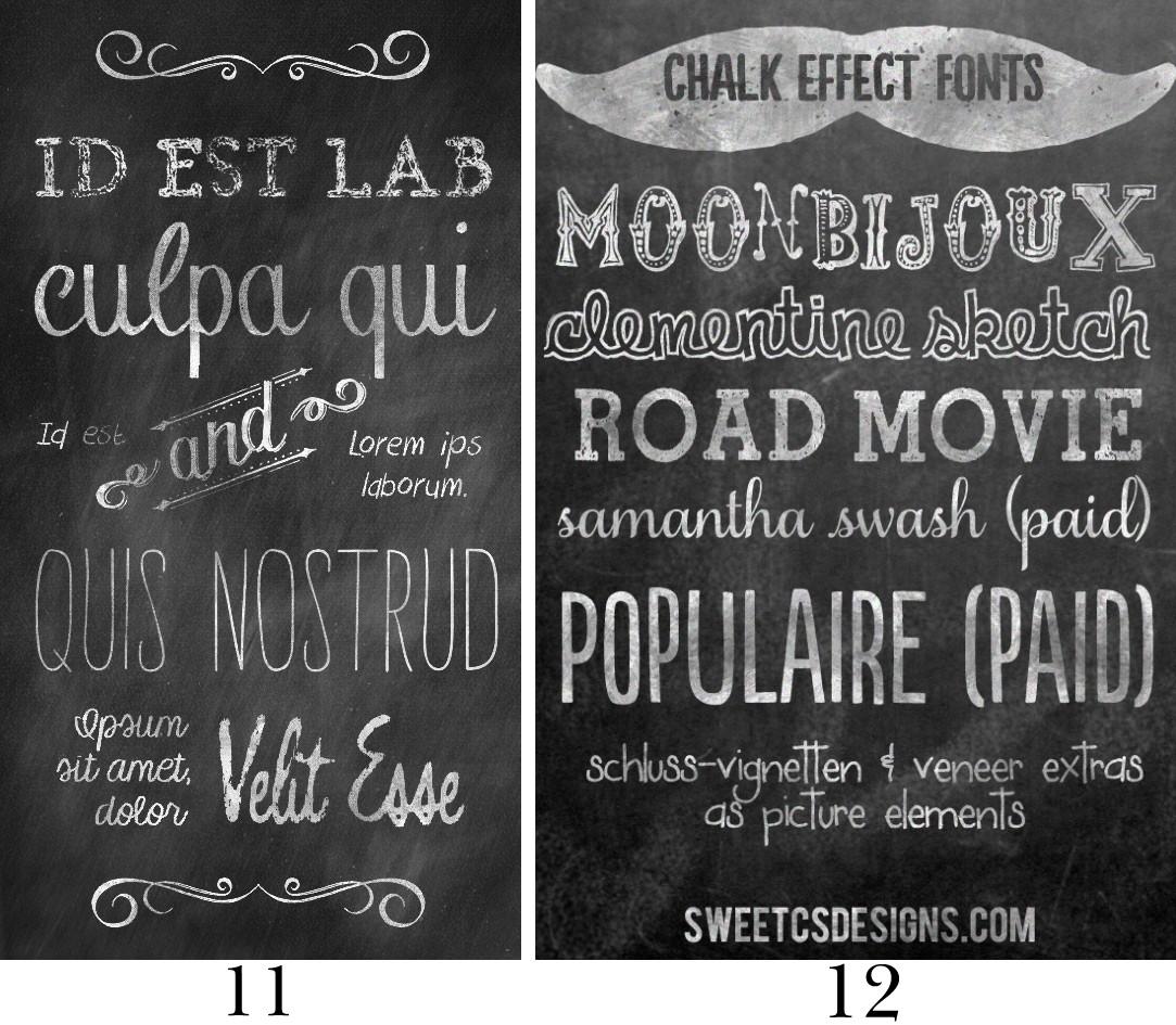Mega Chalkboard Font Round Up!.