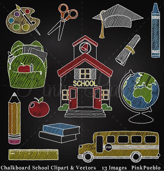Watch more like Chalkboard Clip Art School.