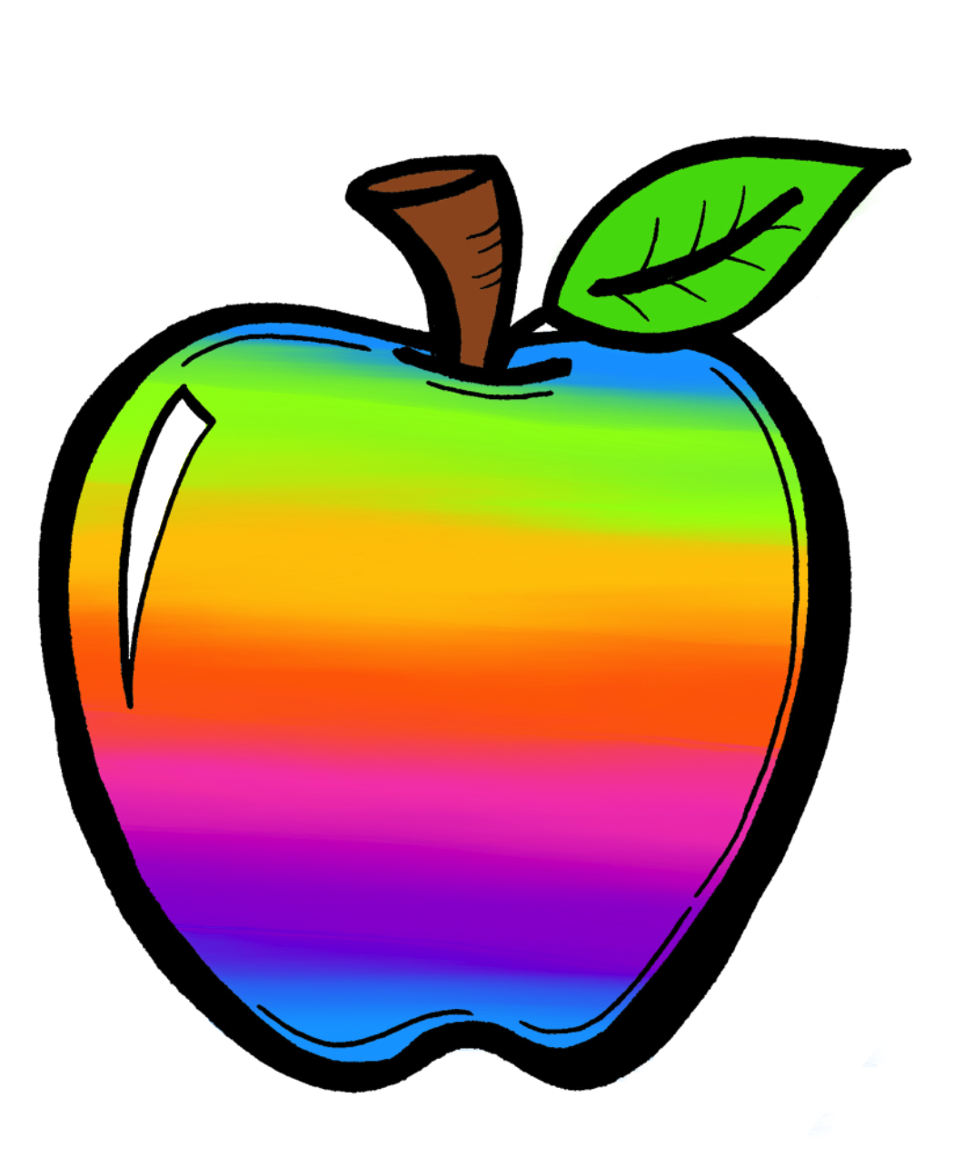 The Creative Chalkboard: FREE Rainbow Apples and New Clipart Sets.