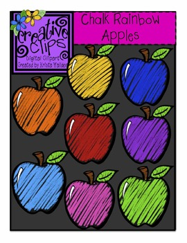Rainbow Apple Cliparts.