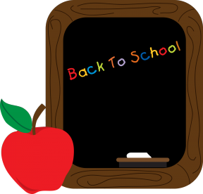 Chalkboard And Apple Clip Art.
