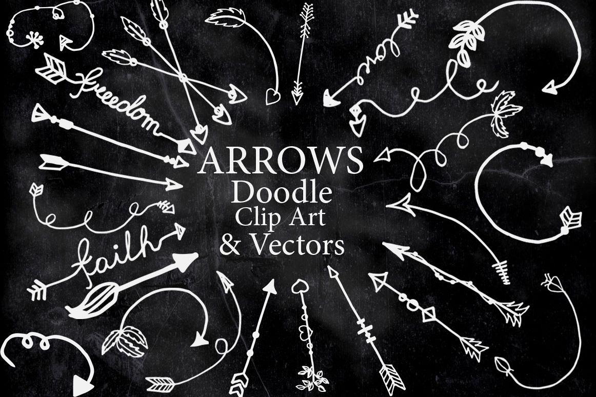 Chalkboard Arrows Clipart.