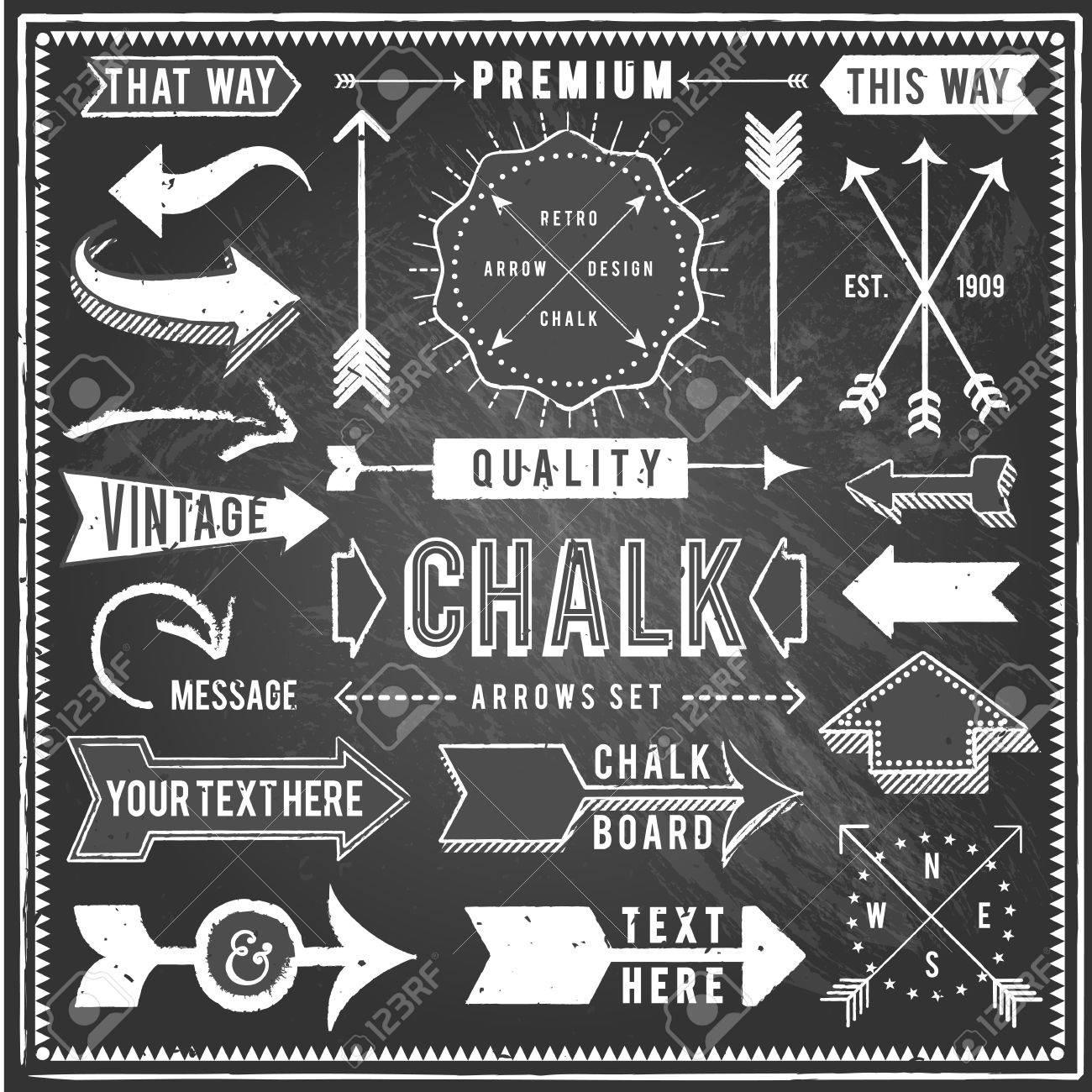 Vintage Chalkboard Arrows.