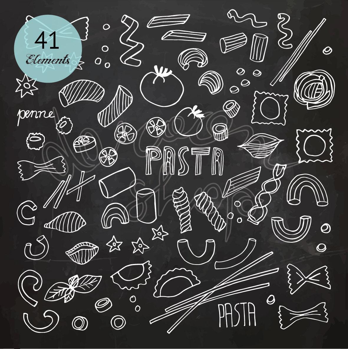Chalkboard Art Clipart Italian & Free Clip Art Images #28437.