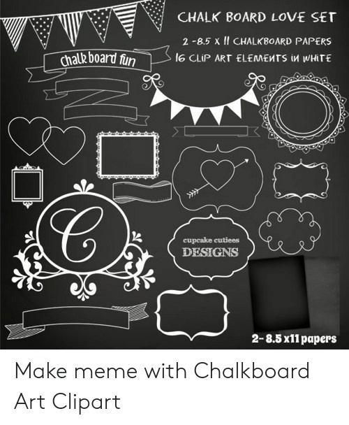 CHALK BOARD LOVE SET 2.