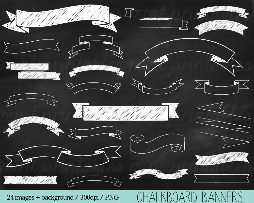 Free Chalkboard Banner Clipart.