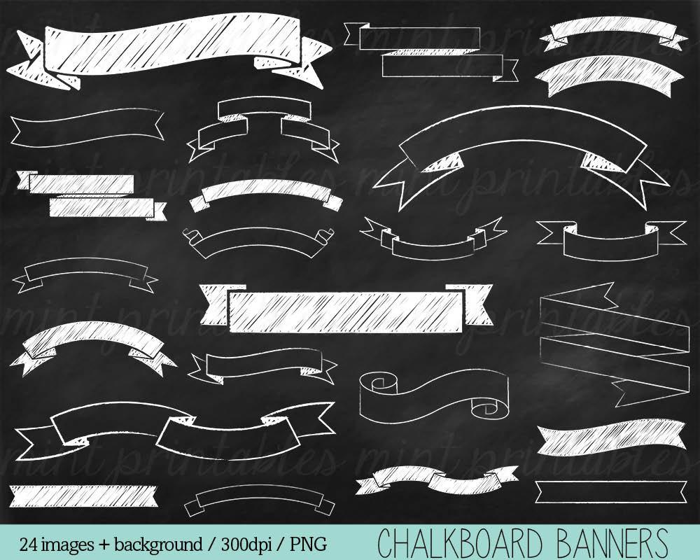 chalkboard banner clipart #19