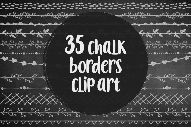 BUY 3 PAY FOR 2, Chalkboards borders clip art, arrows, floral, hearts,  aztec, chalk design elements, hand drawn overlay, doodle, download.