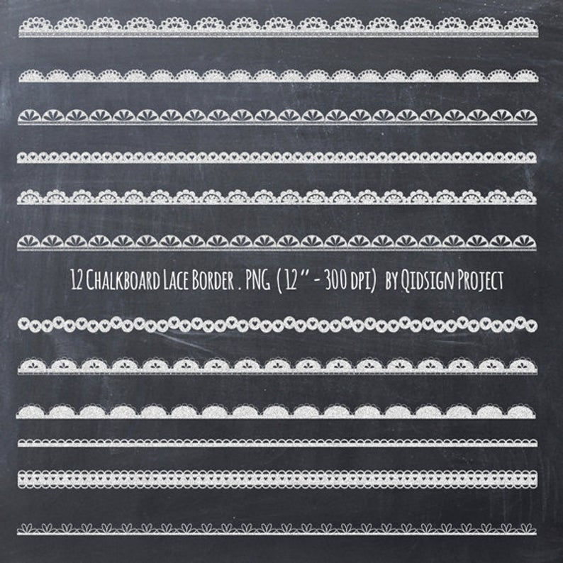 Chalkboard lace border clipart chalkboard border for scrapbooking wedding  invitation commercial use instant download.