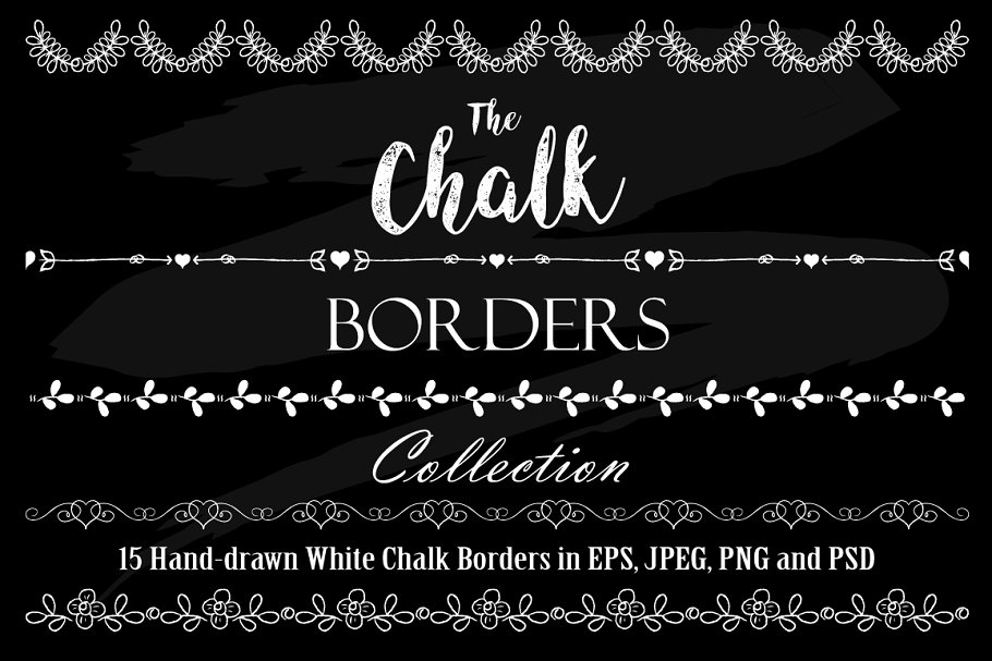 White Chalk Borders Collection.