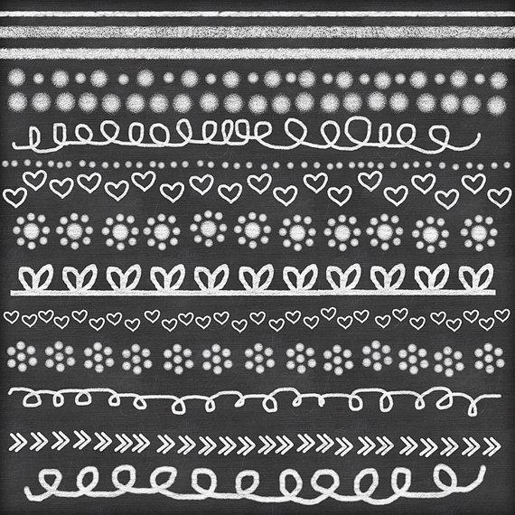 chalk clipart doodle chalk borders lines hand drawn chalk clip art15.