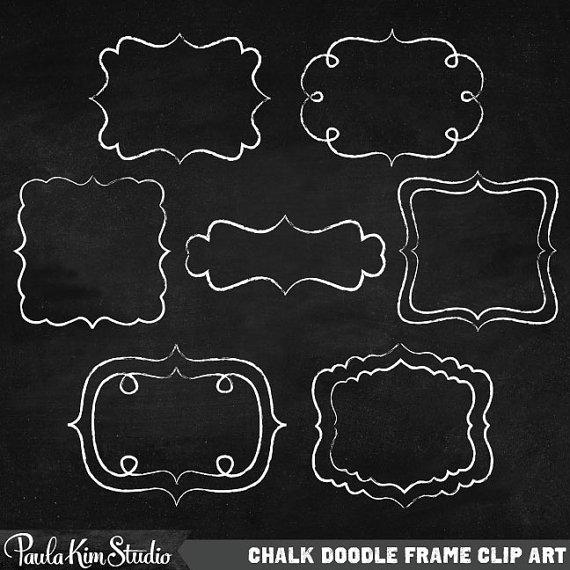 Chalk Clipart Doodle Border Digital Frames Chalk Borders Digital.