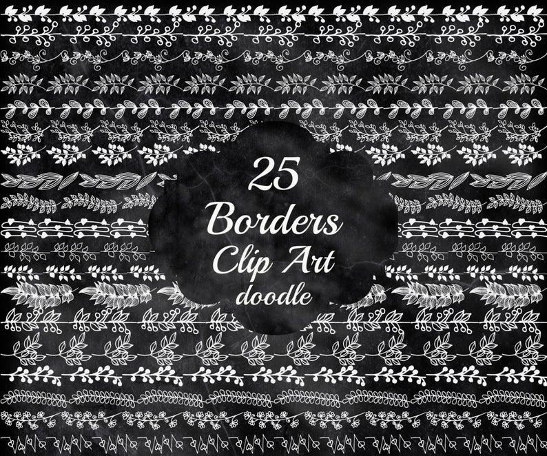 Chalkboard Borders clipart: