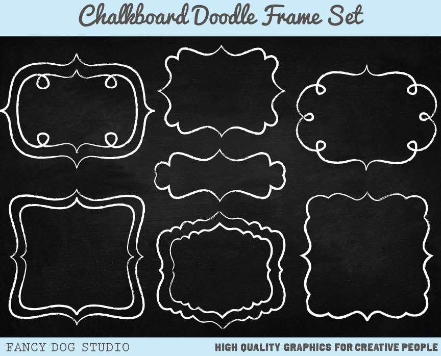 Chalkboard border clipart 2 » Clipart Portal.