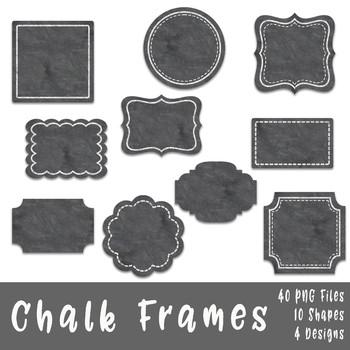 Chalk Frames and Borders Clip Art.