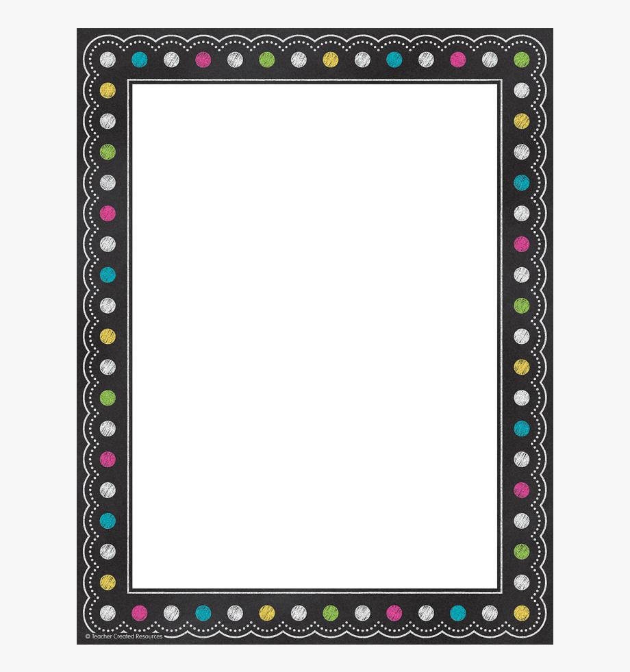 Brights Chalkboard Border Paper.