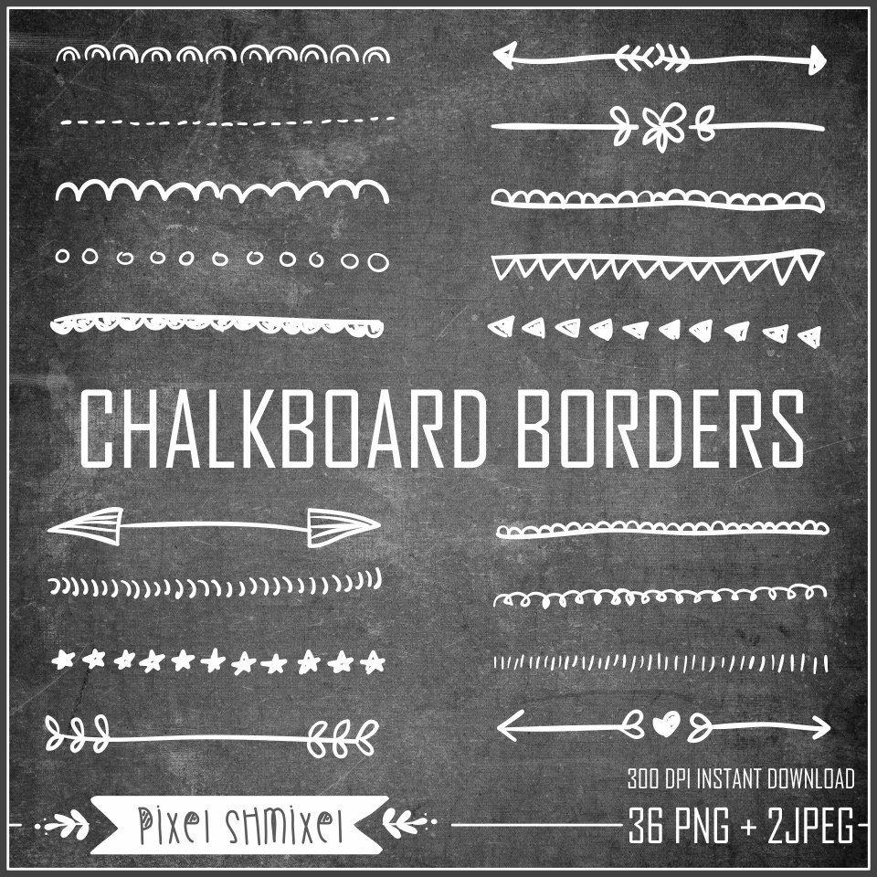 Chalkboard Background With Border Chalkboard Borders Clipart.
