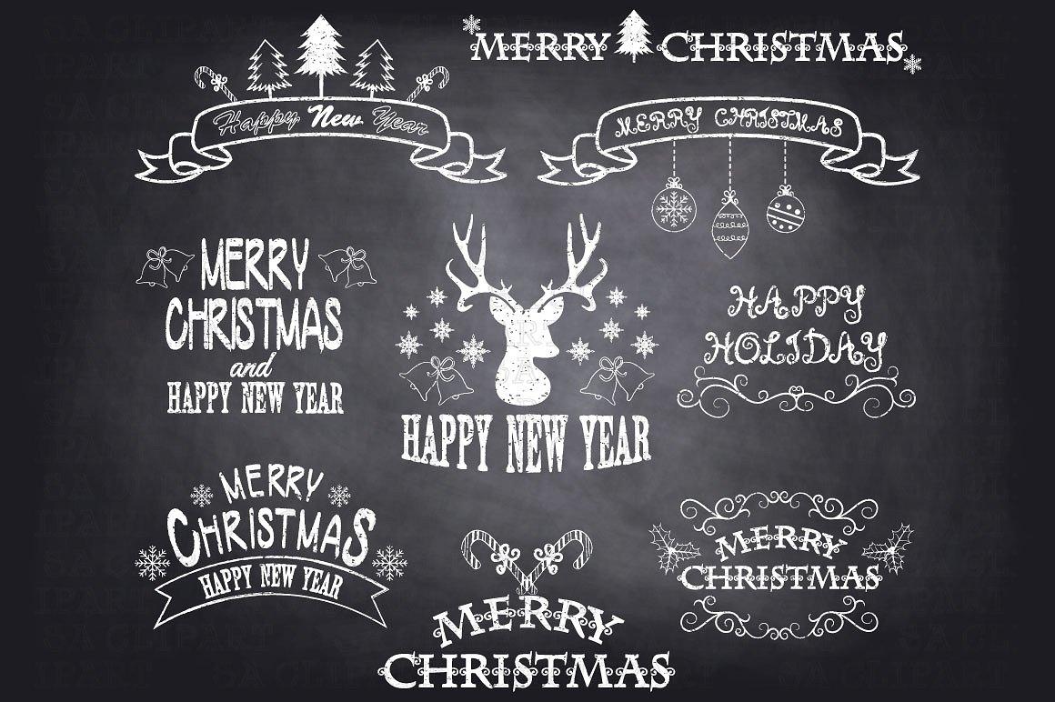 Christmas Chalkboard Clipart Free.