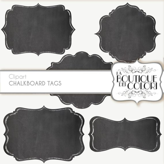 Clip Art Chalk Borders Frames Labels tags Digital Frames.