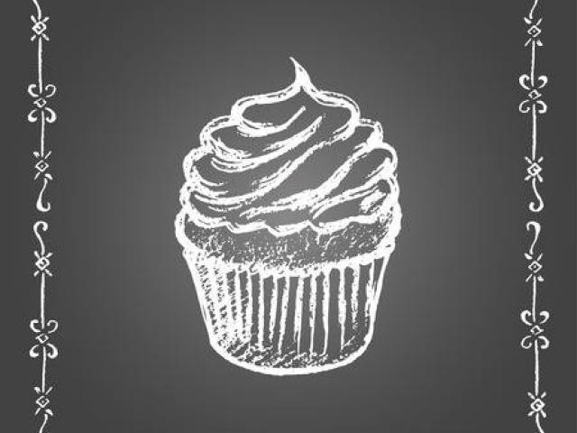 Chalkboard Cupcake Cliparts 8.