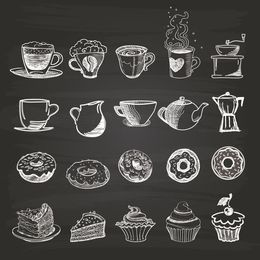Download chalkboard cupcake clipart Cupcake Bakery Donuts.