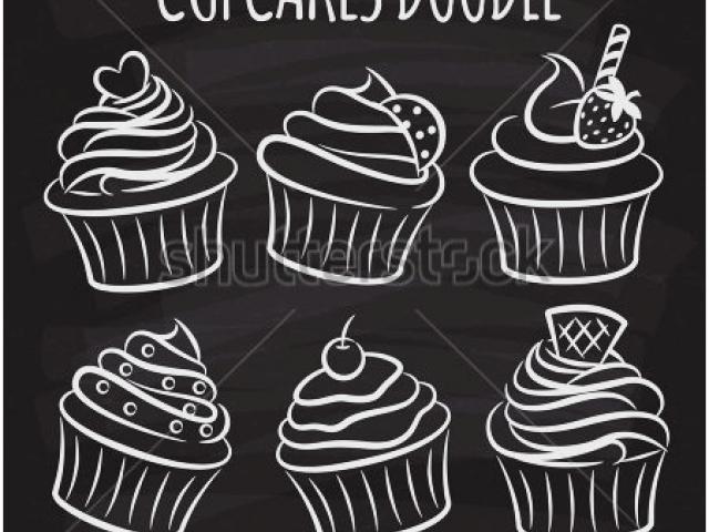 Cupcake Clipart chalkboard 22.