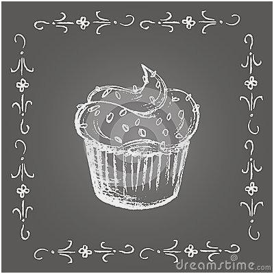 Chalkboard Cupcake Cliparts.