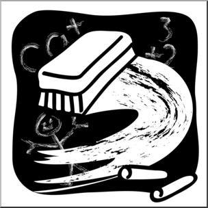 Clip Art: Chalkboard Eraser B&W I abcteach.com.