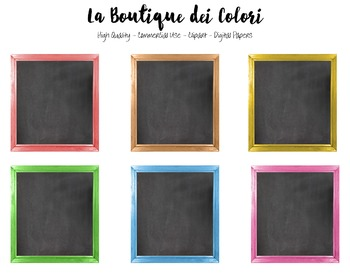 Cute Colorful Framed Chalkboard clipart.