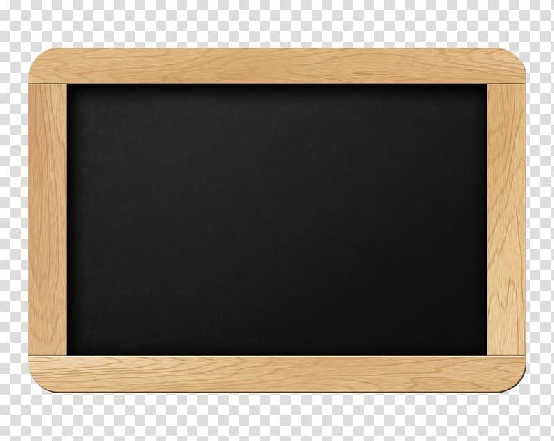 Rectangular brown wooden framed chalkboard, Blackboard Paper.