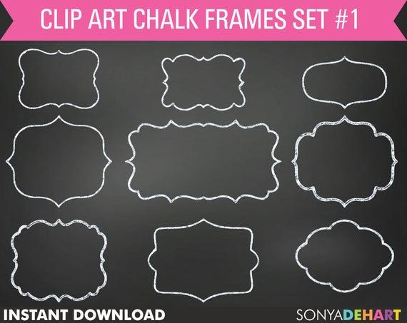 Chalk Frame Clipart, chalkboard frames, frame clip art, chalkboard.