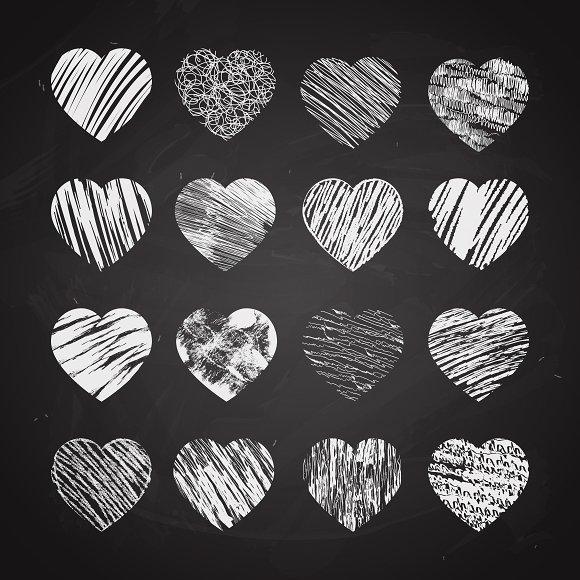 Chalkboard Heart Cliparts.