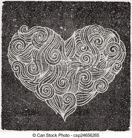 chalkboard vector heart.